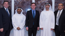 (Left to right) Paul Fox, British consul general to Dubai and the Northern Emirates; Ahmad Al Mulla, senior manager sales, Dubai Airport Freezone; Joel Hagan, i2O chief executive; Jamal Bin Marghoob, director of sales, Dubai Airport Freezone; and Mohamed Sadek, i2O sales director for the Middle East and North Africa